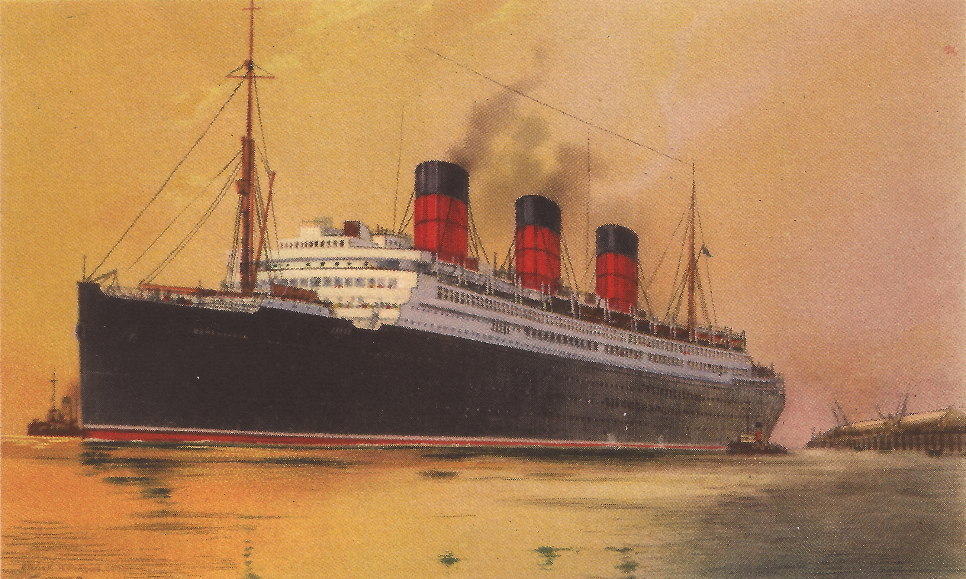 Postcard of the Cunard White Star